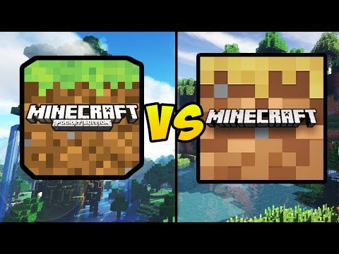 """""""MINECRAFT POCKET EDITION VS MINECRAFT TRIAL"""" (MCPE, Free Minecraft, Mobile Games, IOS, Android)"""