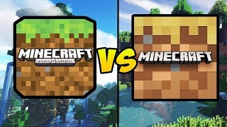 """minecraft Pocket Edition Vs Minecraft Trial"" (mcpe, Free Minecraft, Mobile Games, Ios, Android)"