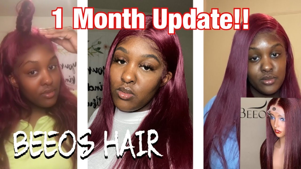 1 MONTH UPDATE || BEEOS Hair 99J Burgundy Wig || Honest Pros & Cons