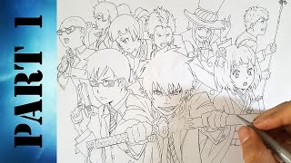 Drawing Ao No Exorcist characters