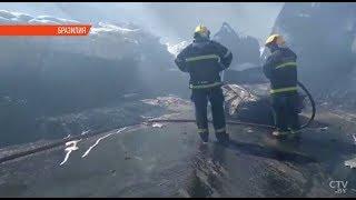 Люди сгорели заживо в ДТП в Бразилии