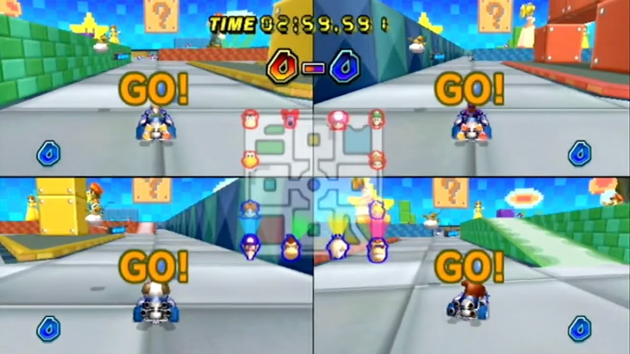 kart fjorda Mario Kart Wii   4 Player VS: 32   Balloon Battle   YouTube kart fjorda