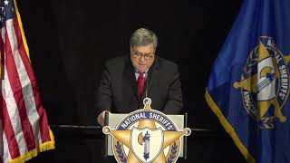 AG Barr Delivers Remarks at National Sheriff's Assoc. Winter Legislative and Technology Conference