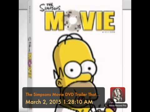 The Simpsons Movie Dvd Trailer That Was On Imdb Youtube