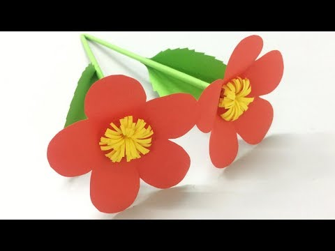 How to Make Easy Paper Flower - Making Paper Flowers Step by Step - DIY Paper Crafts