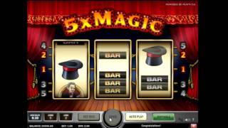 Учимся играть в игровой автомат 5x magic  - бонусный режим, правила
