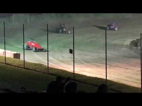 John Smith III - Wins the Wingless Sprint Car Feature at Penn Can Speedway