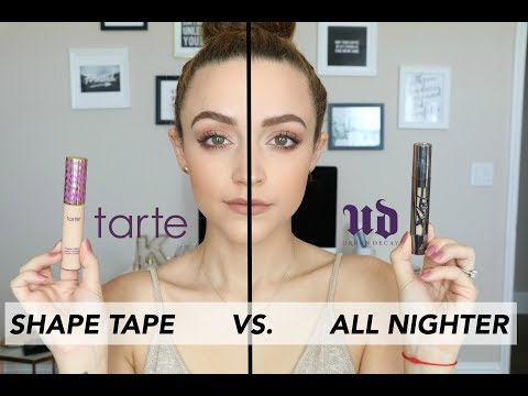 Download Youtube: UD All Nighter Concealer VS. Tarte Shape Tape | Wear Test