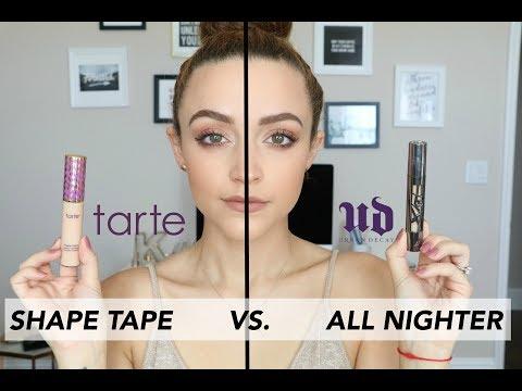 UD All Nighter Concealer VS. Tarte Shape Tape | Wear Test
