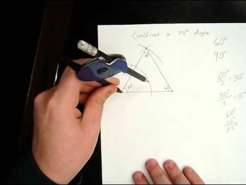 Construct a 75 Degree Angle