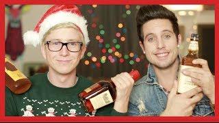 The DRUNK 12 Days of Christmas Challenge (ft. Sawyer Hartman)   Tyler Oakley