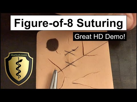 SUTURE Tutorial: Figure-of-8 Technique Step-by-Step HD Instructions!