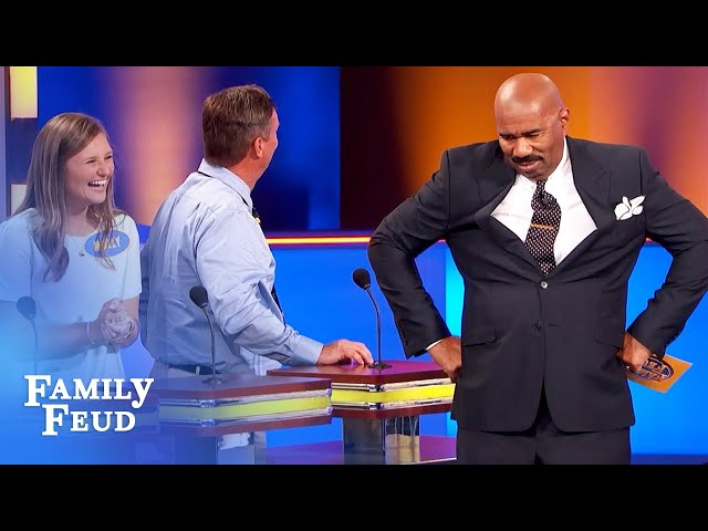 CRINGE! My ZIPPER was wide open while I was at... | Family Feud