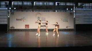 Lucie Novotná, Tereza Dvořáková, Klára Bartošová  EM SportsAerobics 2009 Blanes
