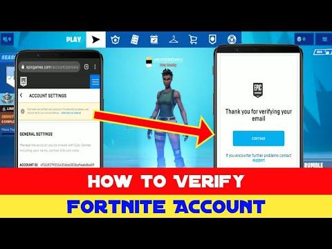 How To Verify Fortnite Account 2019 ( Verify EpicGames Account )