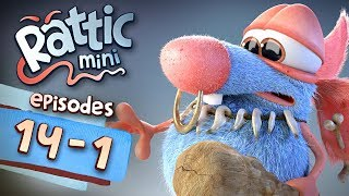 Funny Cartoon Series | Rattic Mini 14-1 Episodes | Funny Animated Cartoon Series For Children