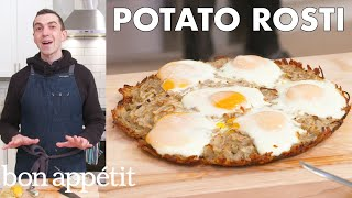 Chris Makes Potato Rosti | From the Home Kitchen | Bon Appétit