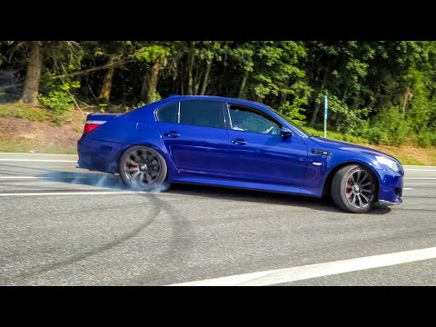 Sportscars Accelerating! M5 V10 LOUD Exhaust SOUNDS, C63S AMG, M4 GTS, Launch Control Burnouts etc