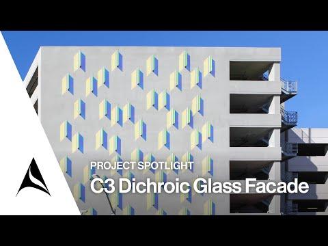Arktura - Culver City C3 Dichroic Glass Sculptural Facade