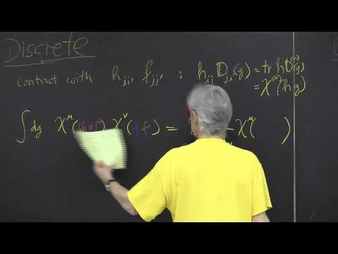 ChaosBook.org chapter Continuous symmetry factorization - Character orthonormality