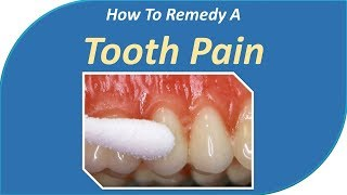How to remedy a Tooth pain|Apply clove oil