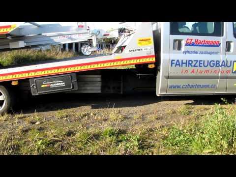 Fitzel SPEEDER odtahová hliníková nástavba - napojeni AL ramu na puvodni