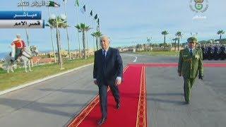 شاهد لحظة وصول عبد المجيد تبون إلى قصر المؤتمرات