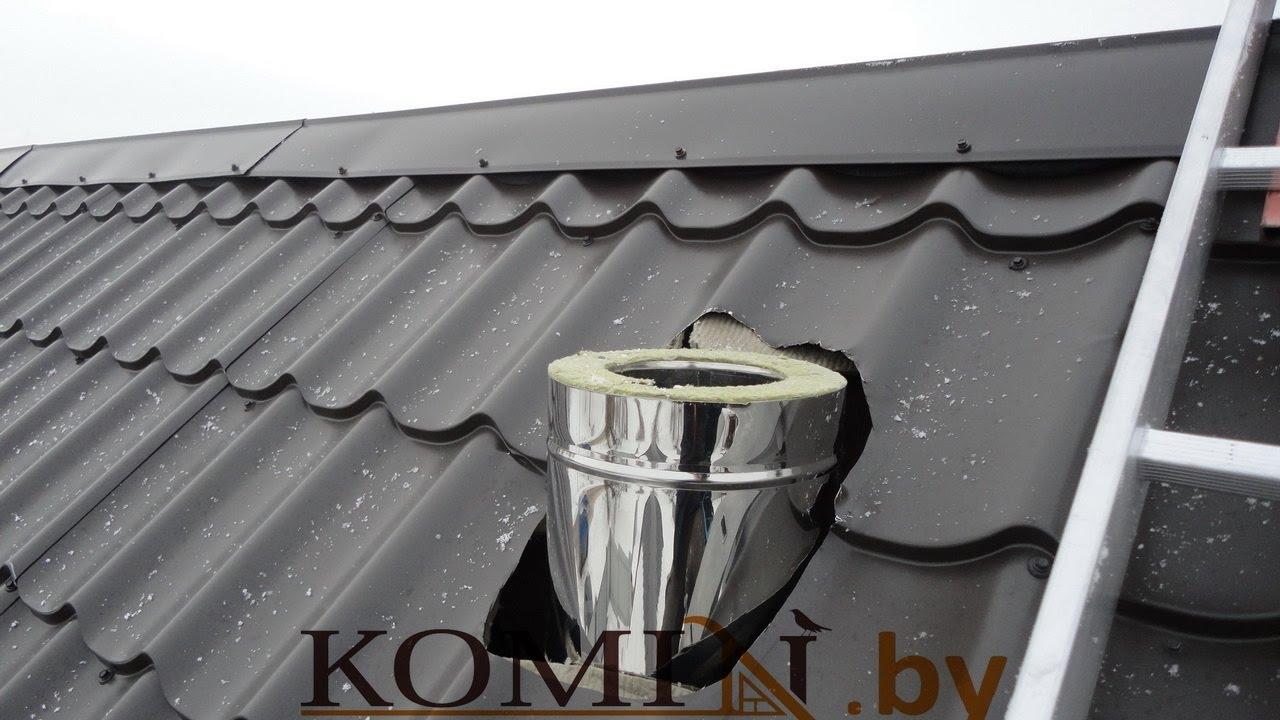 Гофра на дымоход для металлочерепицы расчет длины дымохода бани
