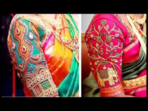 Latest Aari Work Blouse Designs 2018 Embroidery Work Blouse