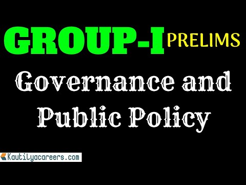 GOVERNANCE AND PUBLIC POLICY