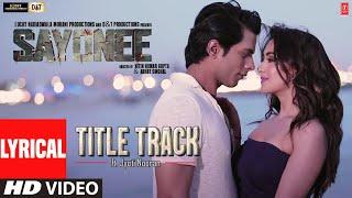 Sayonee - Title Track (Lyrical) Tanmay S | Musskan S | Jyoti Nooran | Joy-Anjan | T-Series