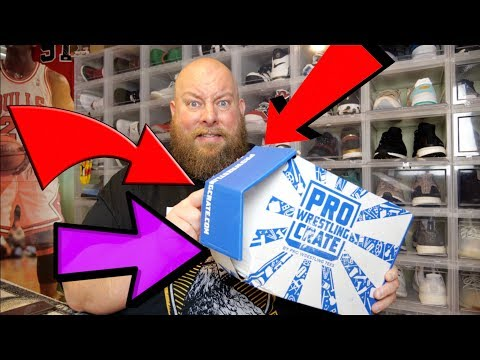 AEW EXCLUSIVE PRO WRESTLING CRATE May 2019 Monthly Subscription Box + SEVERELY DAMAGED BOX