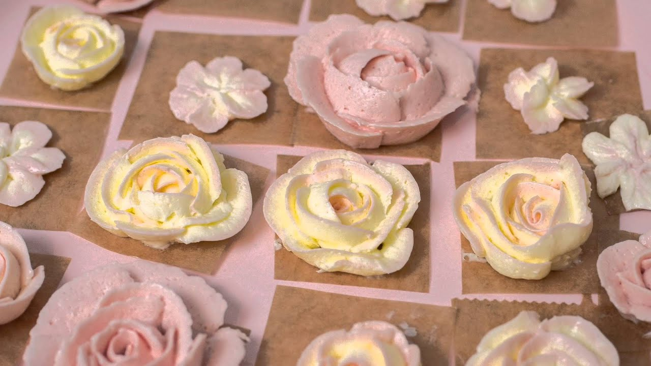 erkl rung und herstellung von buttercreme rosen buttercreme blumen tutorial youtube. Black Bedroom Furniture Sets. Home Design Ideas