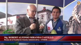 Tema: Autoridades Sanmarquinas Visitan a Alumno Empresario en Mistura