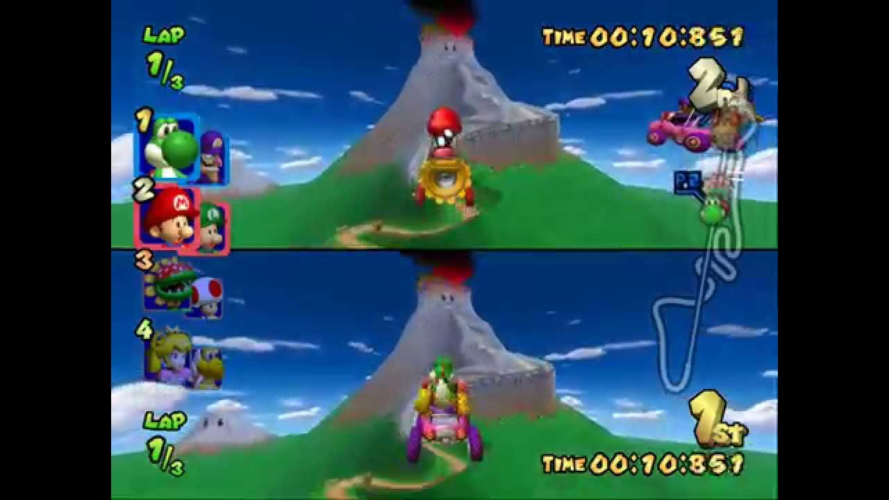 Mario Kart Double Dash All Cup 150cc 2 Player Netplay 60fps