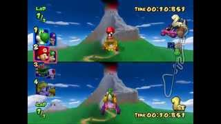 Mario Kart Double Dash!! All Cup 150cc 2 player Netplay 60fps