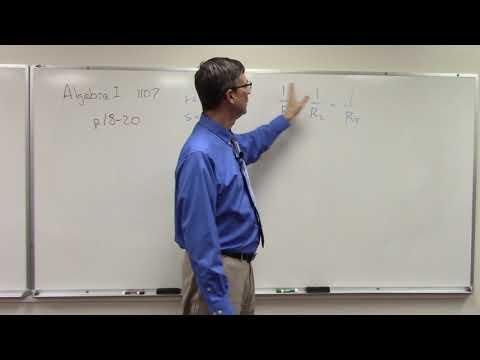 Algebra 1107 P. 18-19