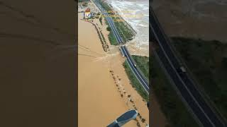 Maltempo Capoterra, elicottero Reparto operativo aeronavale Gdf sorvola zona