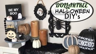Dollar Tree Halloween DIY | Modern Halloween Decor | Black And White Decor
