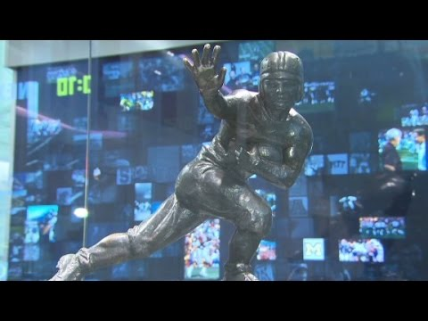 Sneak peak of College Football Hall of Fame Museum