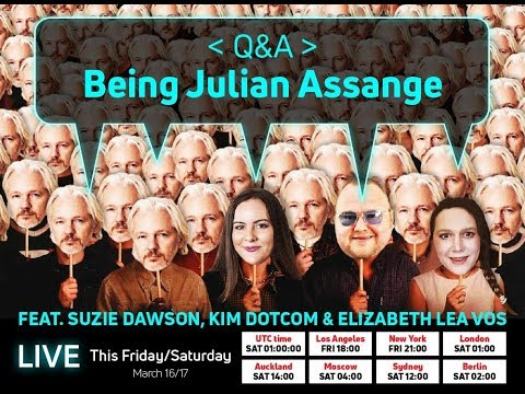 "LIVE Q+A: Kim Dotcom, Suzie Dawson, Elizabeth Lea Vos: ""Being Julian Assange"""