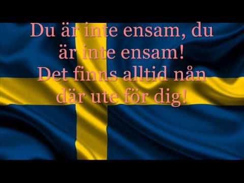 Julia Kedhammar - Du Är Inte Ensam (Sweden) - Lyrics - JESC 2014 [ENGLISH SUB]
