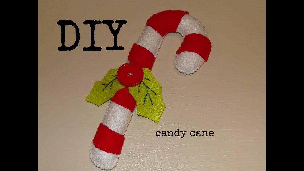 Diy como hacer un bast n de caramelo en fieltro bbarte1 - Caramelos de navidad ...