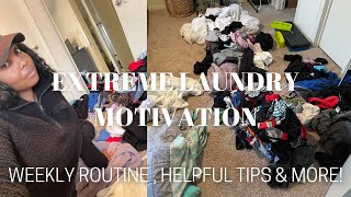 EXTREME LAUNDRY MOTIVATION! | MY WEEKLY LAUNDRY ROUTINE, HELPFUL TIPS & MY WEIRD LAUNDRY HABITS