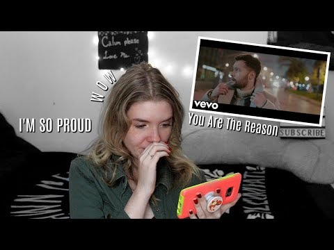 "Calum Scott: ""You Are The Reason"" Music Video REACTION   Olivia Rena"