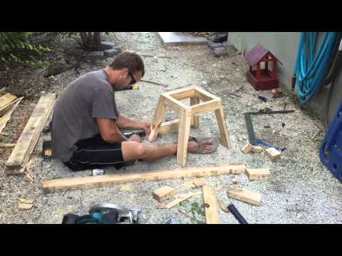 Building Dirtbike stand from pallet