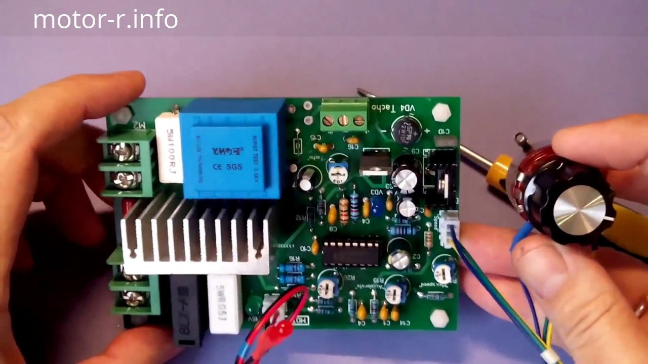 Speed Controller On A Chip Tda1085 Youtube Universal Motor Schematic