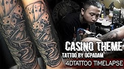 CASINO TATTOO PROCESS // OCPADAM // #4DTATTOOSTUDIO , Gorontalo.