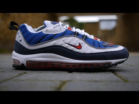 Air Max 98 OG 'Gundam' Review & On Feet (White, University Red + Obsidian) *Feat. Air Max 97*
