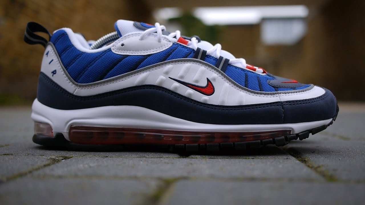 a3ceb3baee Air Max 98 OG 'Gundam' Review & On Feet (White, University Red + Obsidian)  *Feat. Air Max 97*